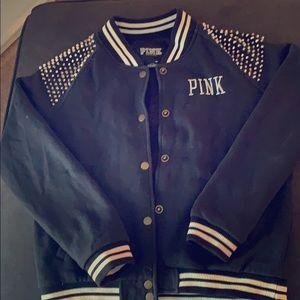 VS Pink Varsity Jacket